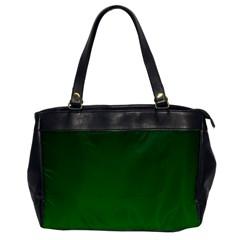 Dark Green To Green Gradient Oversize Office Handbag (one Side) by BestCustomGiftsForYou