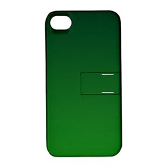 Dark Green To Green Gradient Apple Iphone 4/4s Hardshell Case With Stand by BestCustomGiftsForYou
