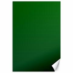 Green To Dark Green Gradient Canvas 12  X 18  (unframed) by BestCustomGiftsForYou