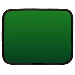 Green To Dark Green Gradient Netbook Case (xl) by BestCustomGiftsForYou