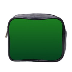 Green To Dark Green Gradient Mini Travel Toiletry Bag (two Sides) by BestCustomGiftsForYou
