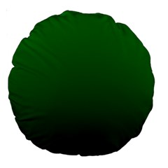 Green To Dark Green Gradient 18  Premium Round Cushion  by BestCustomGiftsForYou