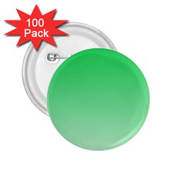 Dark Pastel Green To Pastel Green Gradient 2 25  Button (100 Pack) by BestCustomGiftsForYou