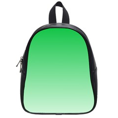 Dark Pastel Green To Pastel Green Gradient School Bag (small) by BestCustomGiftsForYou