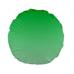 Dark Pastel Green To Pastel Green Gradient 15  Premium Round Cushion  by BestCustomGiftsForYou