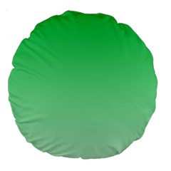 Dark Pastel Green To Pastel Green Gradient 18  Premium Round Cushion  by BestCustomGiftsForYou