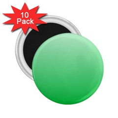 Pastel Green To Dark Pastel Green Gradient 2 25  Button Magnet (10 Pack) by BestCustomGiftsForYou