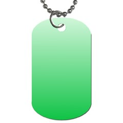 Pastel Green To Dark Pastel Green Gradient Dog Tag (Two Sided)