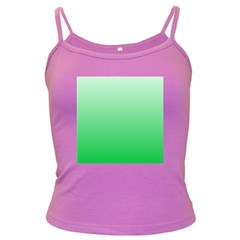 Pastel Green To Dark Pastel Green Gradient Spaghetti Top (colored) by BestCustomGiftsForYou