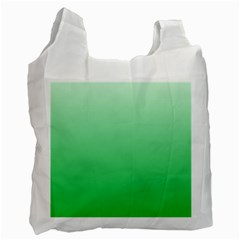 Pastel Green To Dark Pastel Green Gradient Recycle Bag (one Side) by BestCustomGiftsForYou