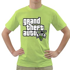 Gta V Mens  T Shirt (green) by Contest1713150