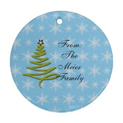 2013 Round Double Sided Ornament 1 By Martha Meier   Round Ornament (two Sides)   O0bvetxj1xh9   Www Artscow Com Back