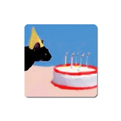 Birthday Kitty! Magnet (square) by mysticalimages