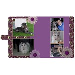 Purple Apple iPad 2 woven Folio Case - Apple iPad 2 Woven Pattern Leather Folio Case