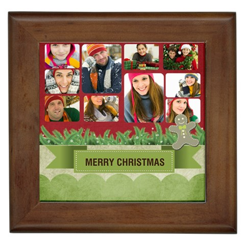 Christmas By Merry Christmas   Framed Tile   Csaniu1tbeqr   Www Artscow Com Front