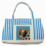 Sunshine blue Stiped Tote - Striped Blue Tote Bag