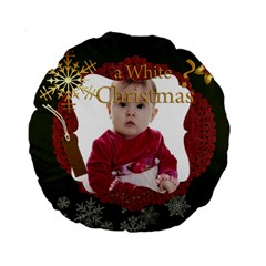 Christmas By Debe Lee   Standard 15  Premium Round Cushion    Mkztfbbhgans   Www Artscow Com Front