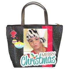 Christmas Bag Tonya By Meredith Hazel   Bucket Bag   6rnoyh23wi55   Www Artscow Com Back