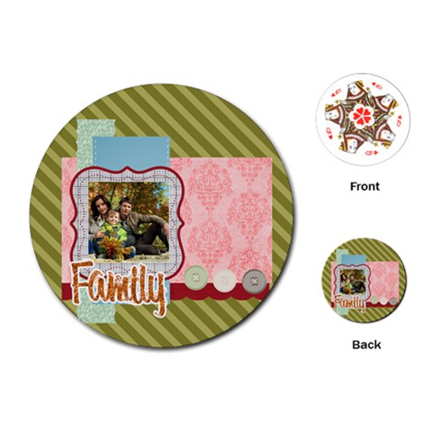 Family By Family   Playing Cards (round)   50b46e84f0f6   Www Artscow Com Front