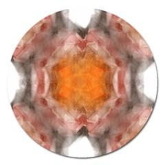 Seamless Background Fractal Magnet 5  (round) by hlehnerer