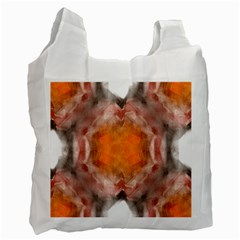 Seamless Background Fractal Recycle Bag (two Sides) by hlehnerer