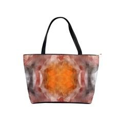 Seamless Background Fractal Large Shoulder Bag by hlehnerer
