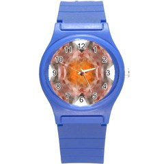 Seamless Background Fractal Plastic Sport Watch (small) by hlehnerer