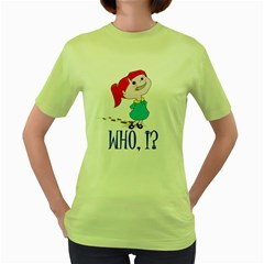 Oh boy! Womens  T-shirt (Green) by Contest1714697