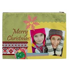Christmas Gift By Merry Christmas   Cosmetic Bag (xxl)   Qn0s452e1qb9   Www Artscow Com Back