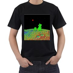 From Mars with woof Mens' Two Sided T-shirt (Black) by Contest1714697