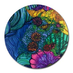 Beauty Blended 8  Mouse Pad (round) by JacklyneMae