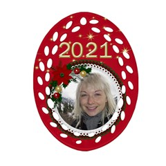 My Christmas Oval Filigree Ornament (2 Sided) By Deborah   Oval Filigree Ornament (two Sides)   65f8kl0lq50a   Www Artscow Com Back