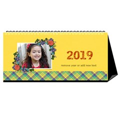 Desktop Calendar 11  X 5    Flower Blooms By Jennyl   Desktop Calendar 11  X 5    2b2zr7me2fij   Www Artscow Com Cover