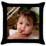 1 - Throw Pillow Case (Black)