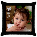 111 - Throw Pillow Case (Black)