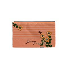 Cosmetic Bag (s)   Stripes And Orange By Jennyl   Cosmetic Bag (small)   Hlbfcgtvdc0q   Www Artscow Com Front