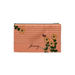 Cosmetic Bag (s)   Stripes And Orange By Jennyl   Cosmetic Bag (small)   Hlbfcgtvdc0q   Www Artscow Com Back