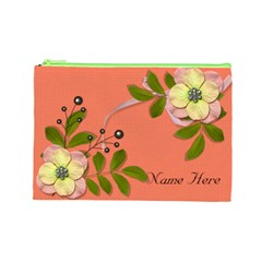 Cosmetic Bag (large)   Big Flowers6 By Jennyl   Cosmetic Bag (large)   Pbqsnf64mdpf   Www Artscow Com Front