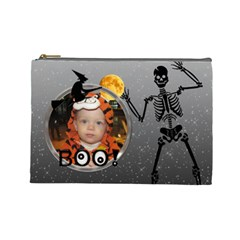 Halloween Large Cosmetic Bag By Lil    Cosmetic Bag (large)   Rl8wqgi1ja6g   Www Artscow Com Front
