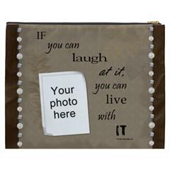 Laugh Xxxl Cosmetic Bag By Lil    Cosmetic Bag (xxxl)   Qf7g2yos7z55   Www Artscow Com Back