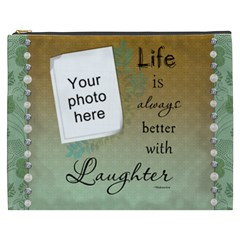 Laughter Xxxl Cosmetic Bag By Lil    Cosmetic Bag (xxxl)   Are9rpz9wbmk   Www Artscow Com Front