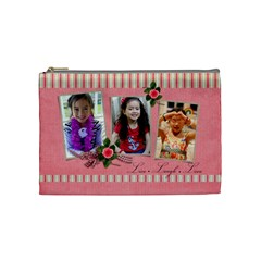 Cosmetic Bag (m)   Live  Laugh  Love By Jennyl   Cosmetic Bag (medium)   4xfcusn5c0z4   Www Artscow Com Front