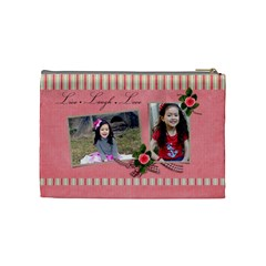Cosmetic Bag (m)   Live  Laugh  Love By Jennyl   Cosmetic Bag (medium)   4xfcusn5c0z4   Www Artscow Com Back