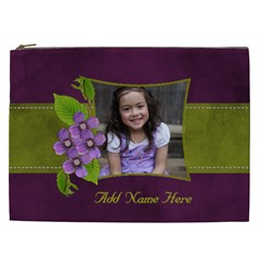 Cosmetic Bag (xxl)   Purple Kiss By Jennyl   Cosmetic Bag (xxl)   Xab9wsmbuh85   Www Artscow Com Front