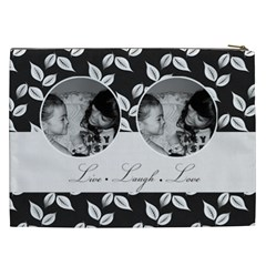 Cosmetic Bag (xxl)   B/w  Live Laugh Love By Jennyl   Cosmetic Bag (xxl)   Revgc44h3eta   Www Artscow Com Back