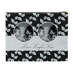 Cosmetic Bag (xl)   B/w   Live Laugh Love By Jennyl   Cosmetic Bag (xl)   Rn4saq86k1a2   Www Artscow Com Back