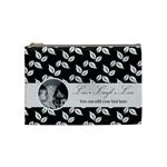 Cosmetic Bag (M) - B/W Live Laugh Love - Cosmetic Bag (Medium)