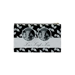 Cosmetic Bag (s)   B/w   Live Laugh Love By Jennyl   Cosmetic Bag (small)   X5b5y44saojw   Www Artscow Com Back
