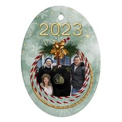 My Oval Christmas Ornament (2 Sided) By Deborah   Oval Ornament (two Sides)   Dd5aj196zihc   Www Artscow Com Back