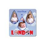 NYL Weather in London - Magnet (Square)